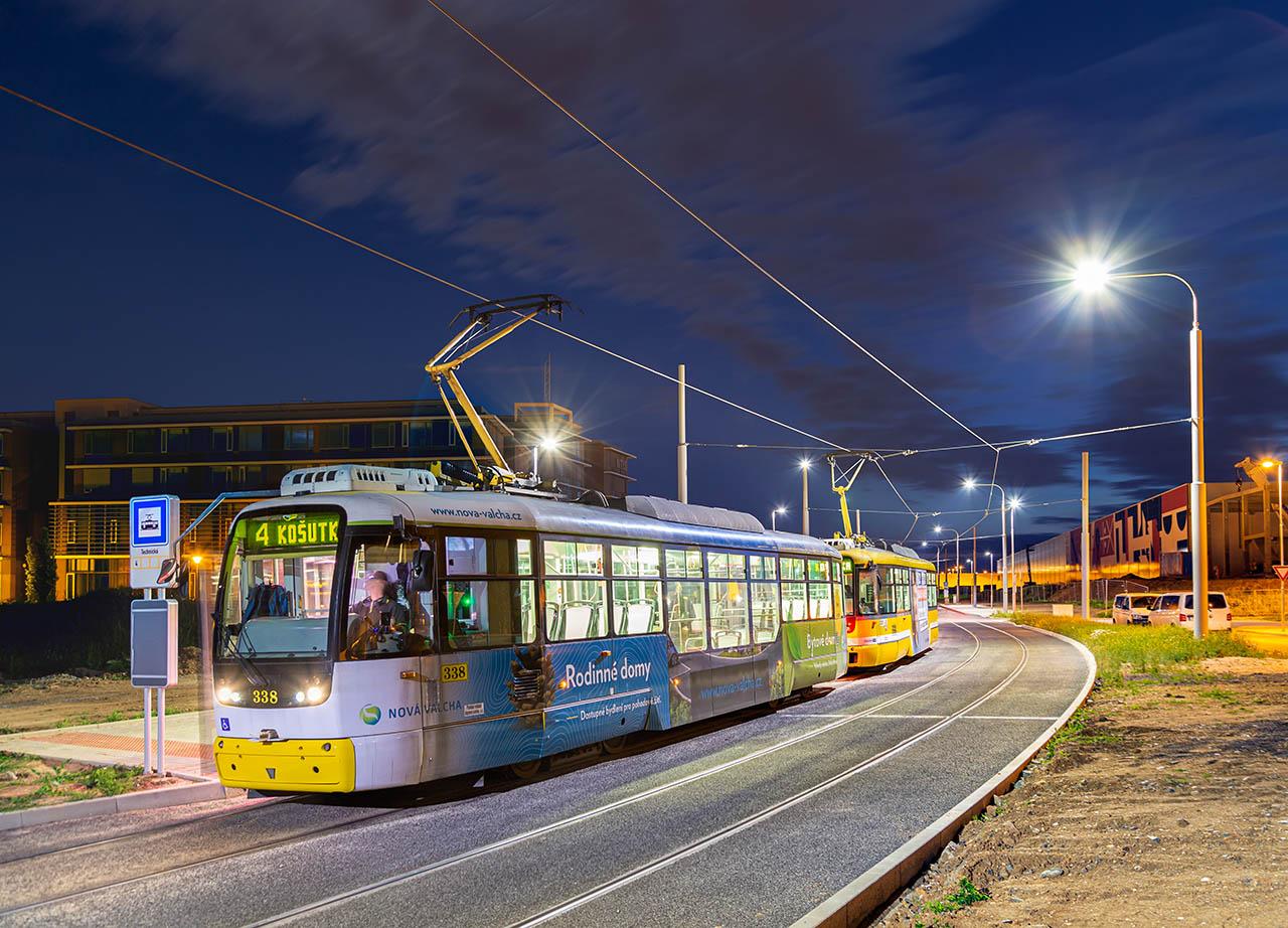 Tramvajová trať na Borská pole